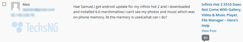 infinix hot 2 marshmallow files issue