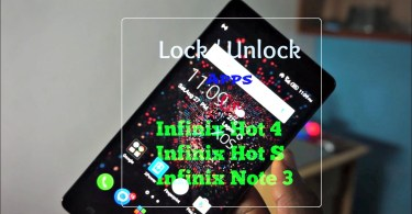 lock unlock apps on infinix hot s