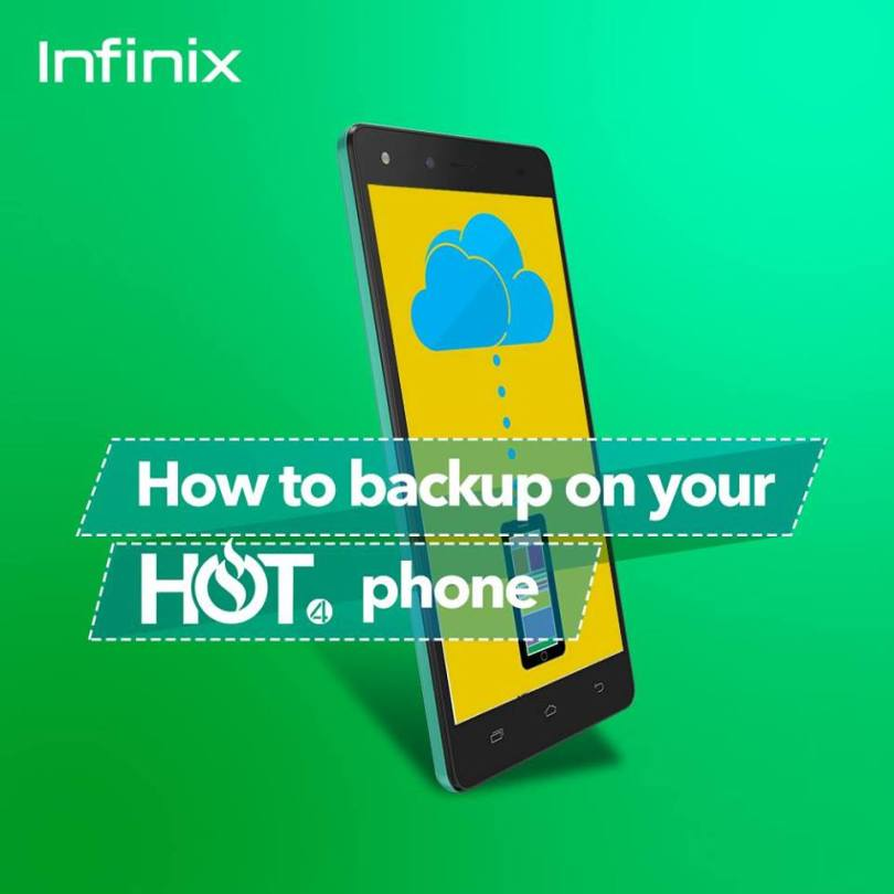 back up contacts, messages on infinix phone