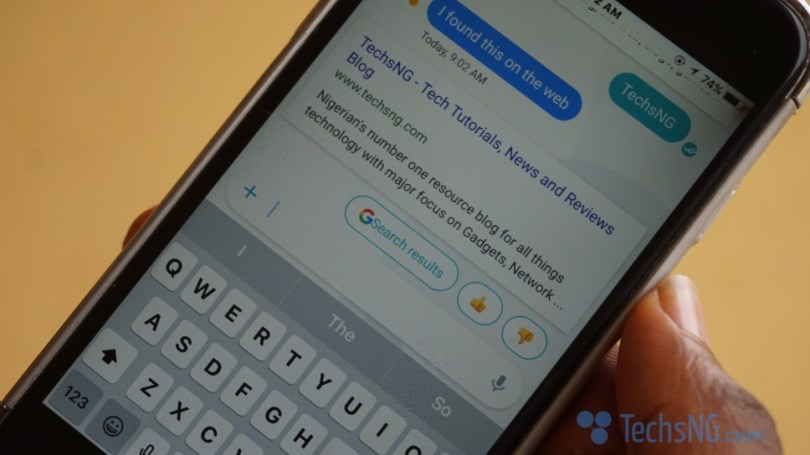 Get quick search results on allo