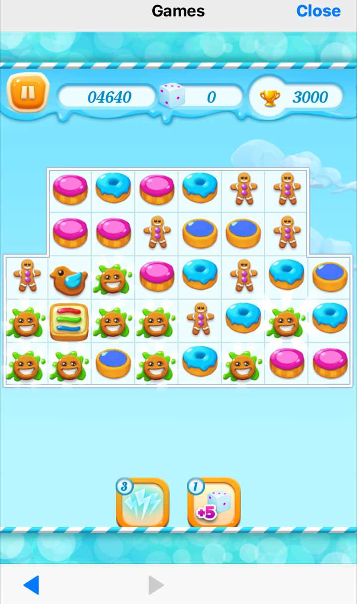 playing cookie crush game on BBM