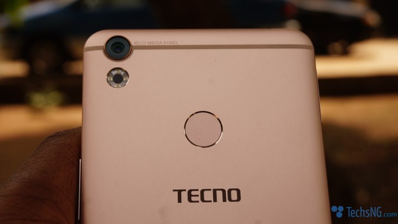 Tecno Camon CX fingerprint scanner