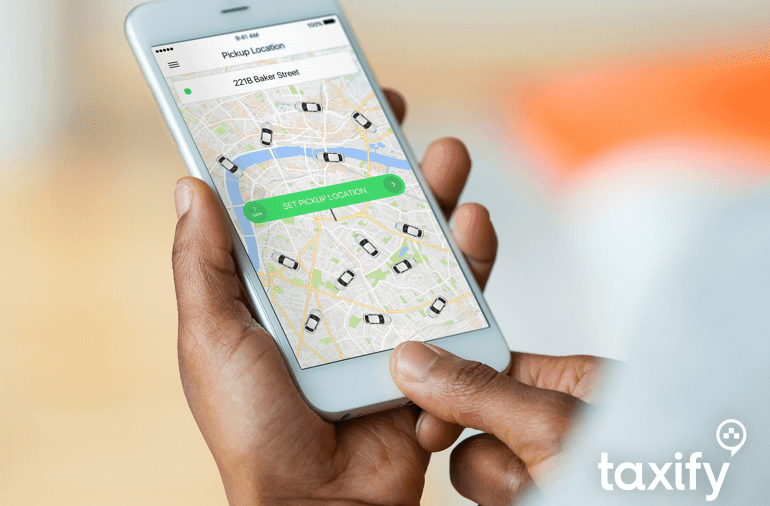 taxify app on iPhone