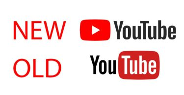 New Youtube logo compared to the old