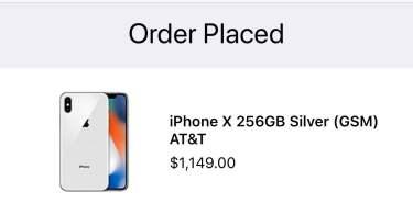 price of iPhone X