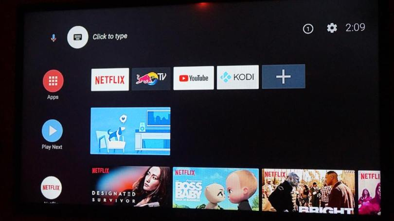 Xiaomi Mi Box android tv box running Android 8 Oreo operating system