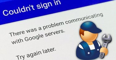 fix problem communicating with google servers