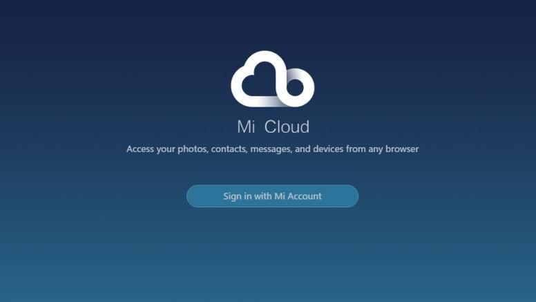 unlock Mi cloud account