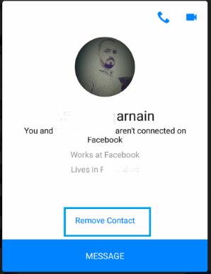 delete someone on messenger