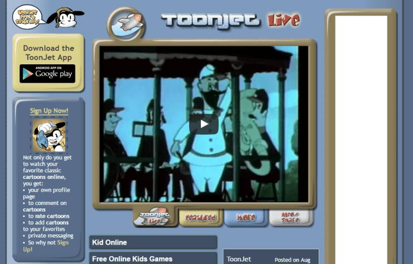 toonjet website to watch cartoons online free