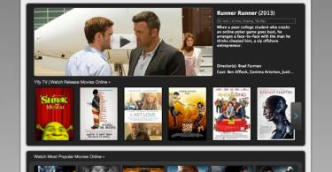 Top movie streaming sites like Yify tv