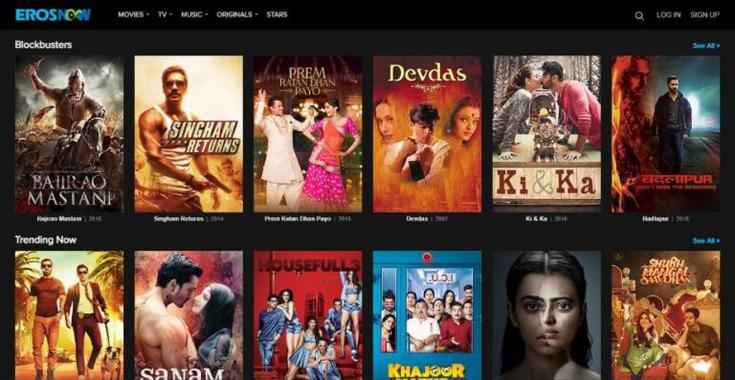 eros now movie streaming site