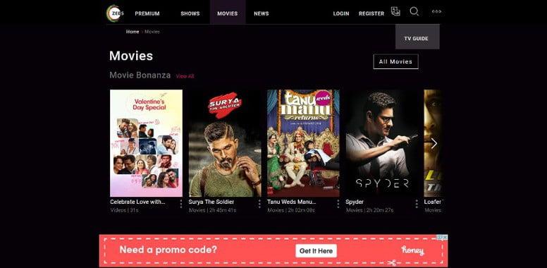 Zee5 watch movies online
