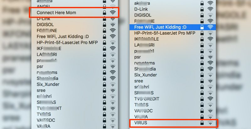 Funny Wifi names for routers