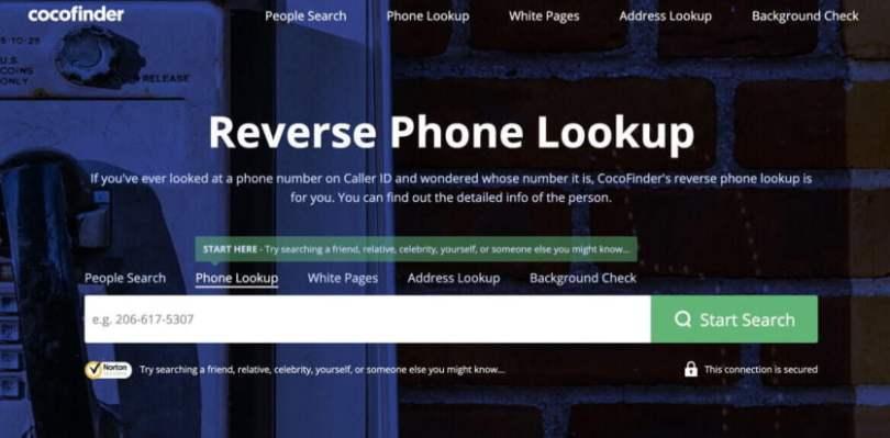 Cocofinder Reverse Phone Lookup