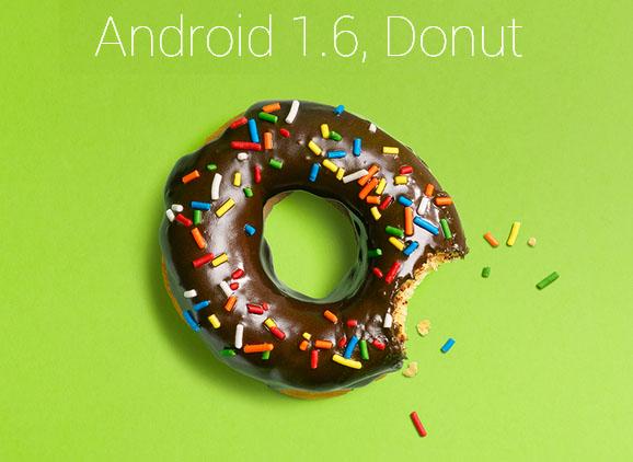 نظام أندرويد ١.٦ الذي يحمل اسم Donut