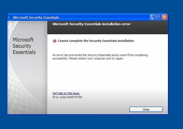 Error Code: 0x80070780