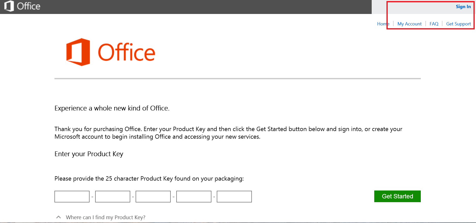 where can i find my product key on my computer for microsoft office