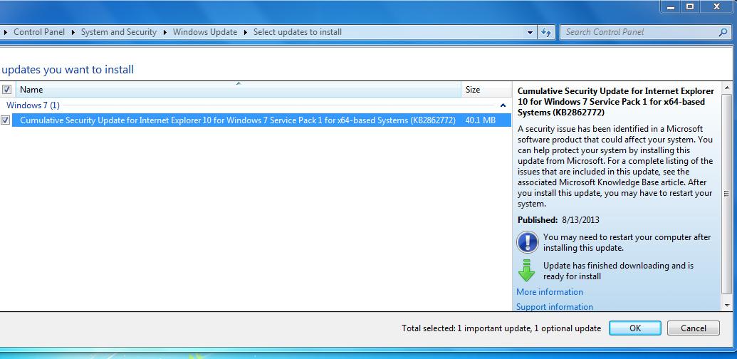 how to fix failure configuring windows updates windows 7