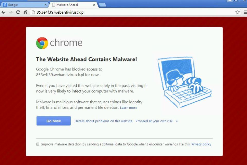 malware ahead