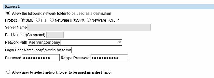 Remote 1 Scan Destination
