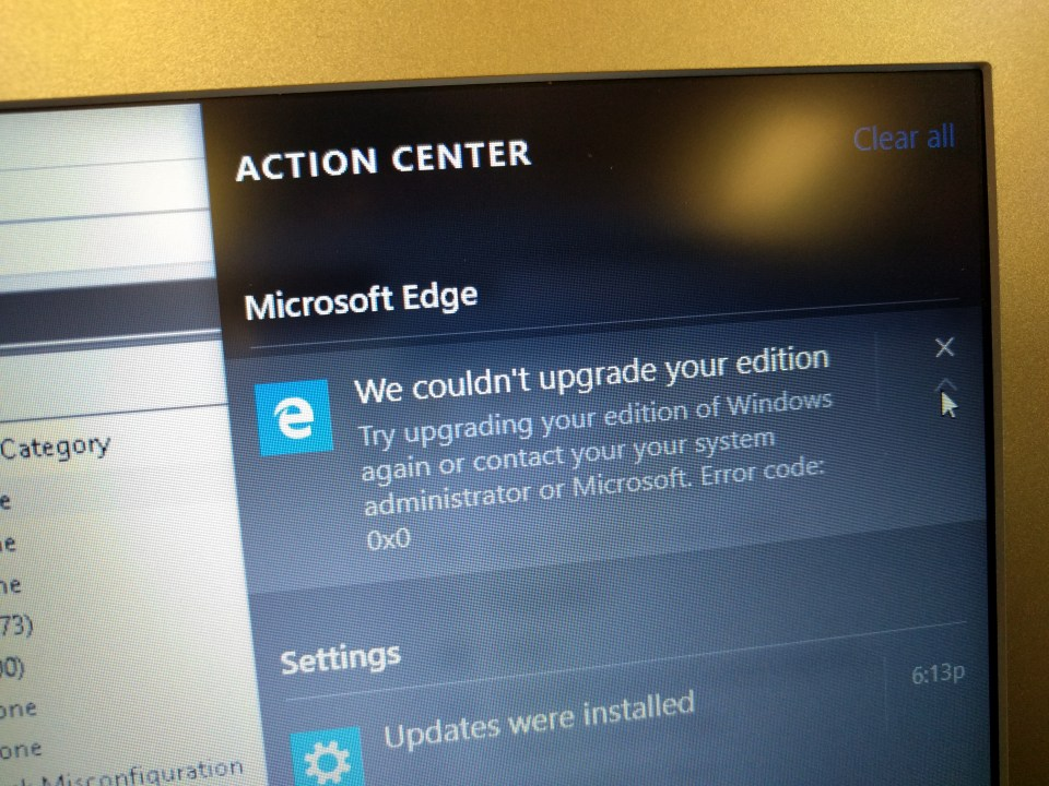 We Couldn't Upgrade Your Edition Windows 10