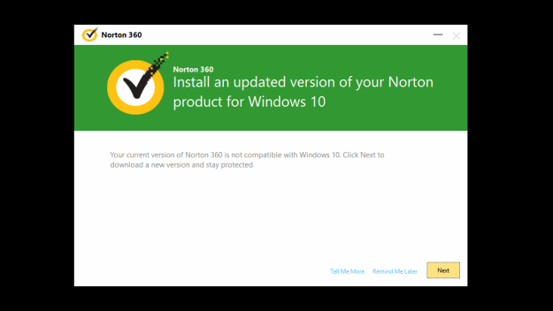 Norton Installation Error