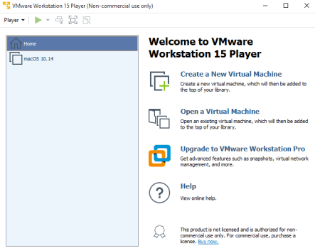 vmware player non commercial use only download