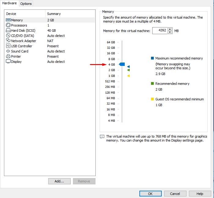 Ram inside VMware