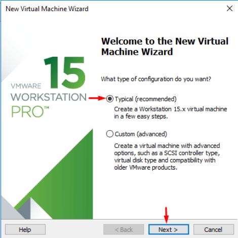 Creating new Virtual Machine