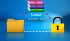 How to use Winrar zip - and compress or lock your files on winrar