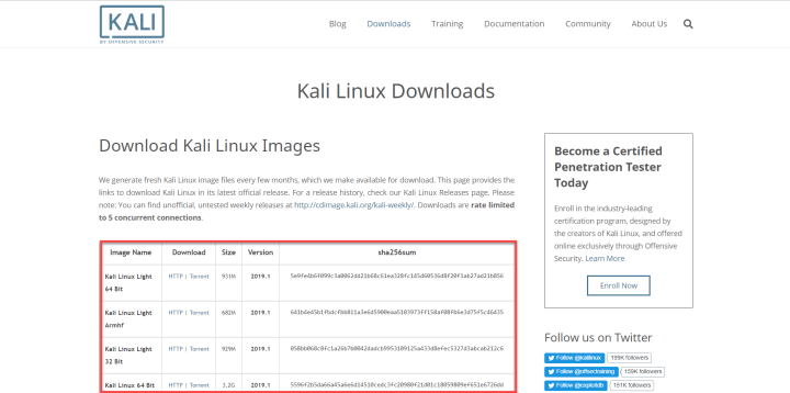 Download Kali Linux (official)