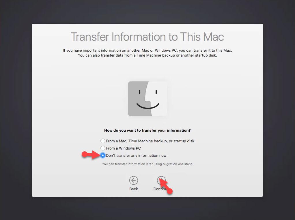 Transfer information for Mac