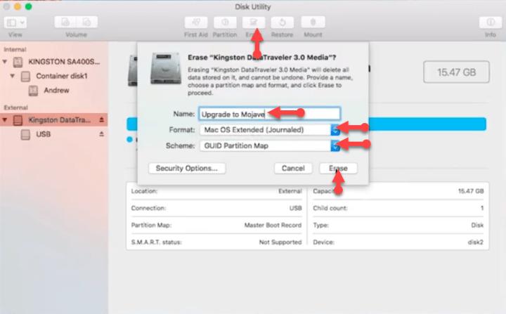 Select USB for installer