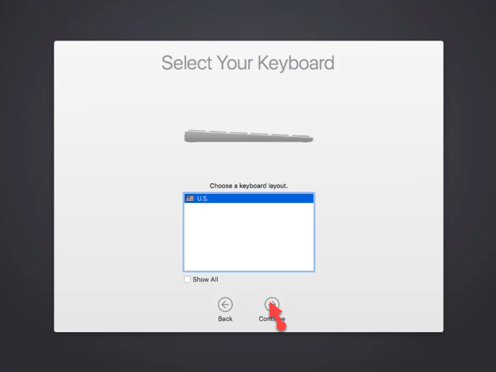 Select your keyboard