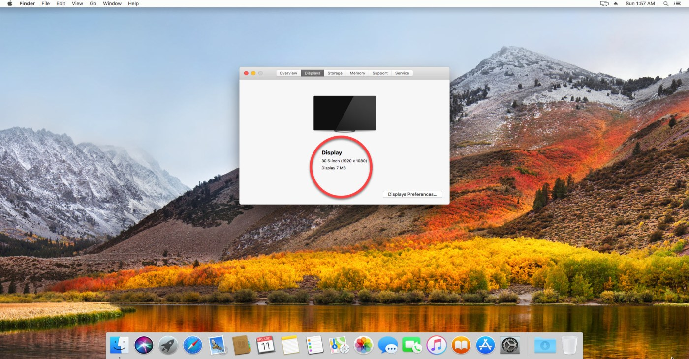 MacOS High Sierra HD Screen