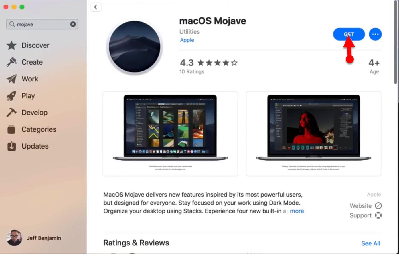 Get MacOS Mojave