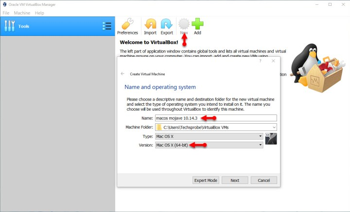 Create a new virtual machine