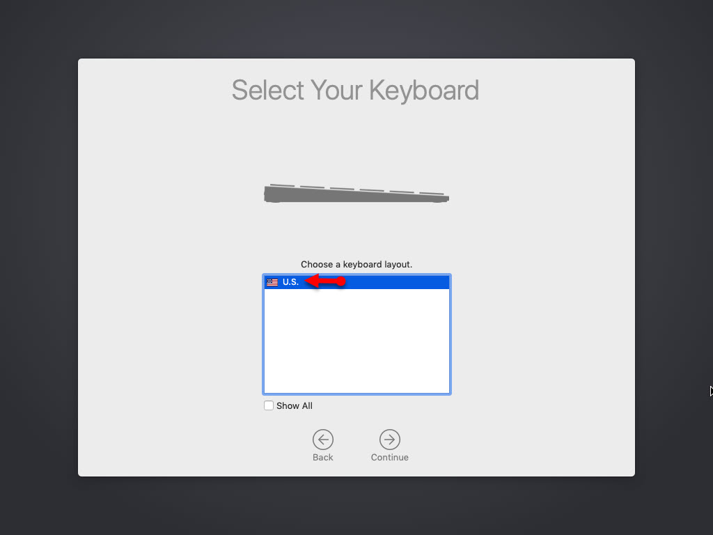 Select you keyboard