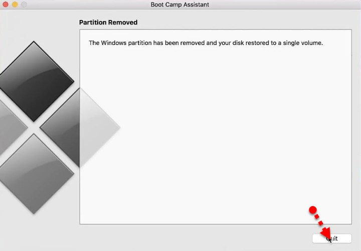 Partition Removed