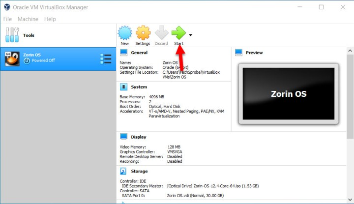 Install Zorin OS on VirtualBox on Windows