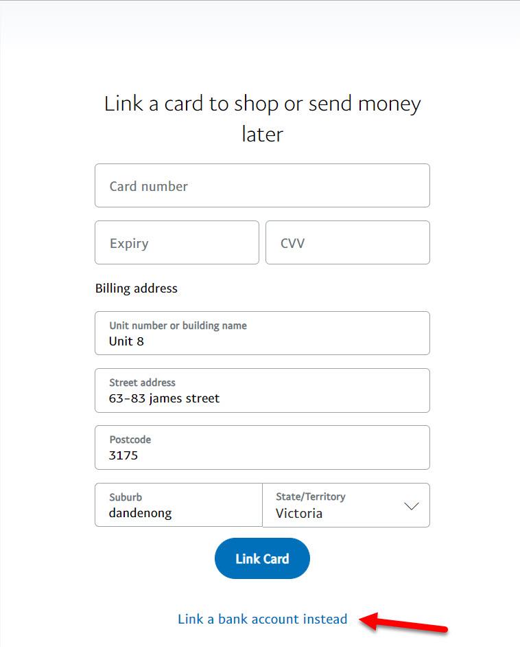 Link a bank account