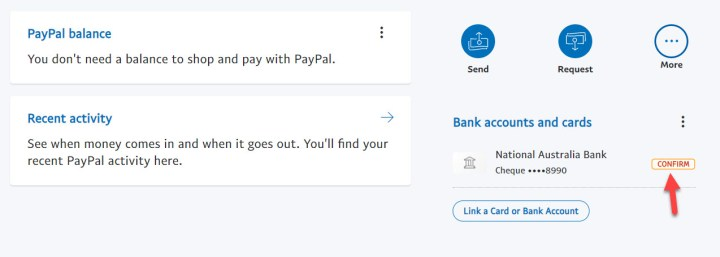 Log in to PayPal