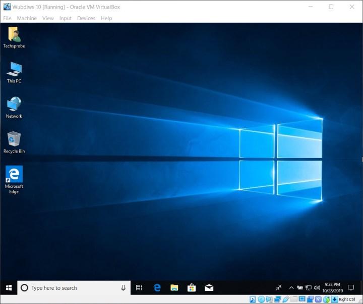 Installed Windows 10 on VirtualBox