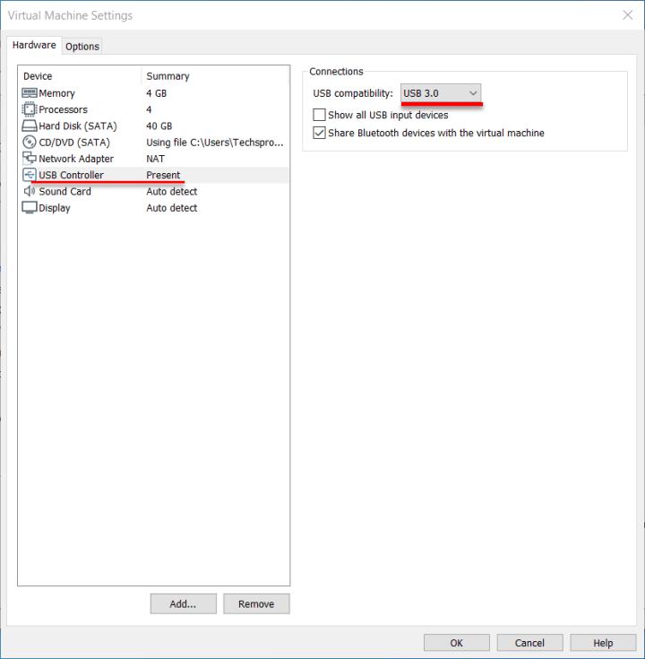 Select USB 3.0