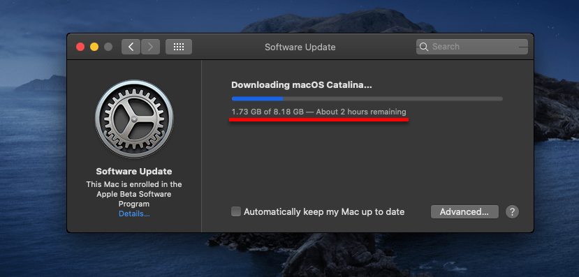 Downloading the updates