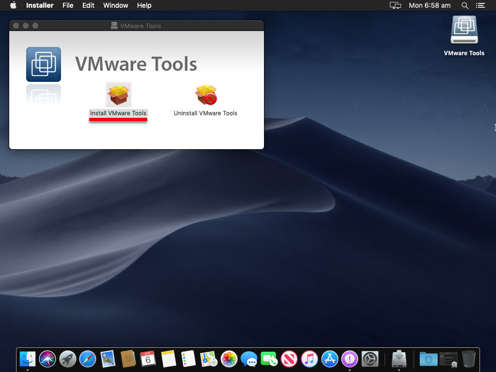Open VMware tools