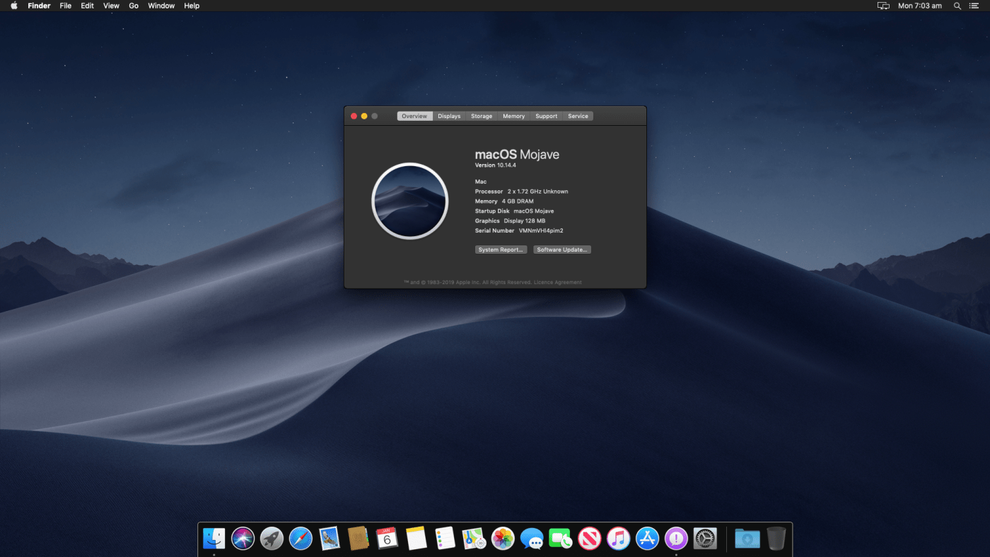 macOS Mojave full screen