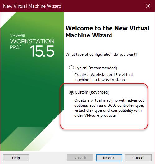 Select advanced option