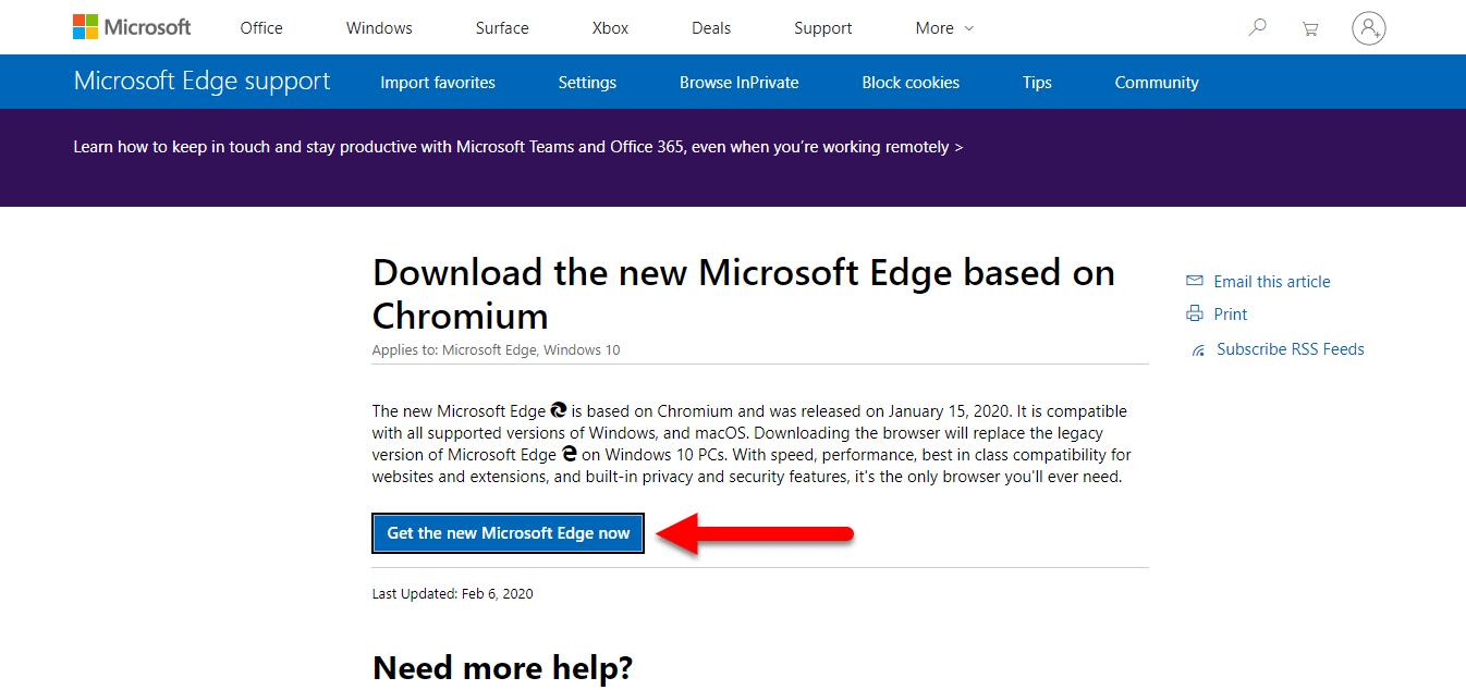 Get the Microsoft Edge Now